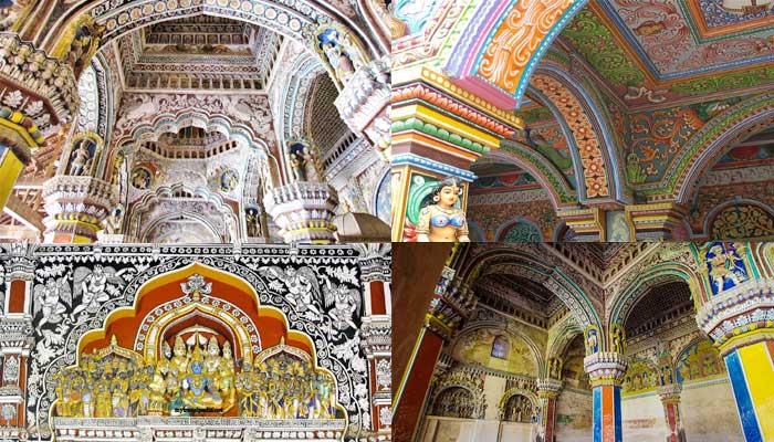 Royal Palace Paintings Thanjavur
