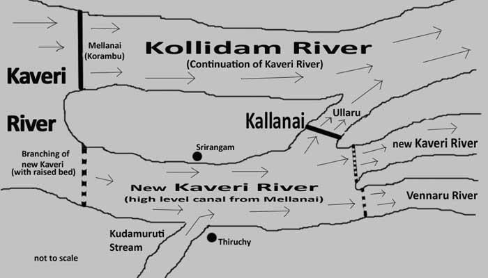 Kallanai Dam Map